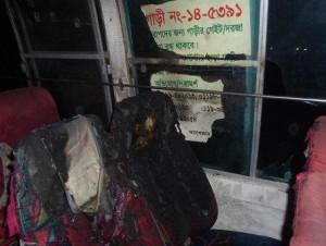Kishoreganj (Petrol Bomb Inside Bus)-25-01-15