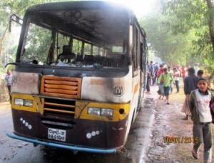 passenger bus gutted in Kulaura