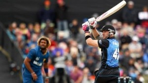 during the 2015 ICC Cricket World Cup match between Sri Lanka and New Zealand at Hagley Oval on February 14, 2015 in Christchurch, New Zealand.