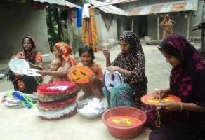 hand-made fan by gafargaon women
