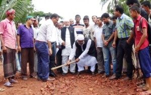 Bagerhat road construction starts