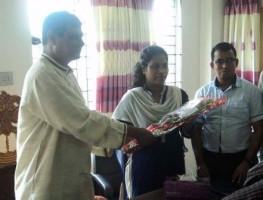 Lutfun Nahar takes office as new UNO of Dhanbari