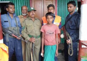 child rescued in sundarbans