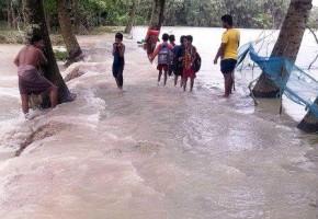 kalapara inundated by tidal surge