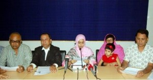 m m rana's wife press conference in Khulna