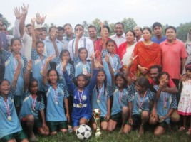 primary school football gold cup sherpur