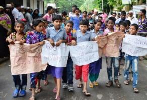 kalapara children protest over child sexual abuse