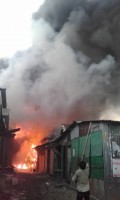 40 shops burnt in netrakona