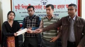 kotalipara students receive financial aid