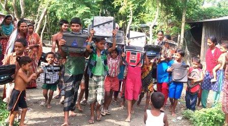 kawkhali under-privileged children gifted with school bag