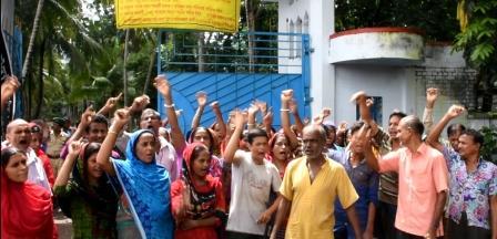 satkhira textile mill strike