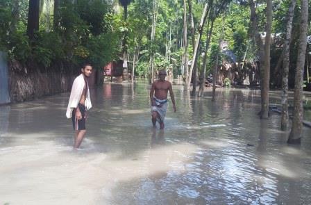 tidal surge inundates kawkhali villages