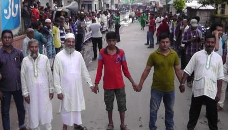 pro-rampal-human-chain-in-bagerhat