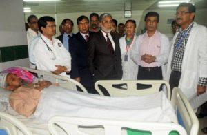 Khulna Abu Naser hospital visit by healt secretary
