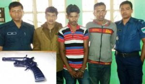 Arrest with arms in Satkhira
